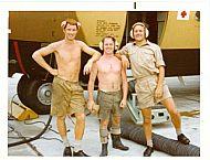 Dai Evans, Jack Bissett and Bob Middleton